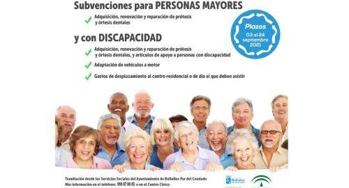 SUBVENCIÓN DE LA JUNTA DE AYUDAS PARA MAYORES Y DISCAPACITADOS